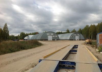 Хранилище на 10 000 тонн вид с весовой, окончание строительства